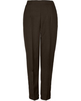 "Ladies Half Elasticated Trousers Short Length (25"")"