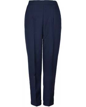 "Ladies Half Elasticated Wool Touch Trousers Regular Length (25"")"