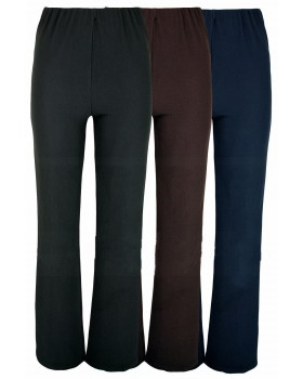 Ladies New Ribbed Brown Bootleg Trousers