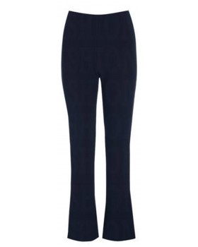 Ladies New Ribbed Navy Bootleg Trousers